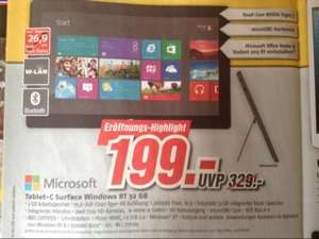 Microsoft Surface Windows RT 32GB [lokal Eberswalde]