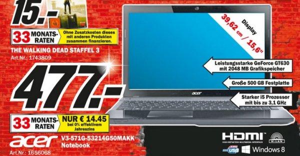 Acer Aspire V3-571G-53214G50Makk LOKAL[Mediamarkt Eschweiler] 477€ Tagesangebot