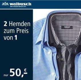 2 Business Hemden zum Preis von 1 für 55,95 EUR inkl. Versand - Aktion bei @walbusch.de