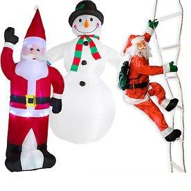 Weihnachtsdekoration aufblasbar und beleuchtet 240-280cm @ebay 34,99€