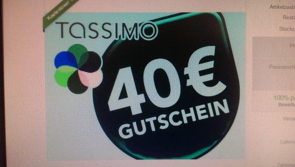 [eBay.de] Bosch Tassimo 40€ Gutschein