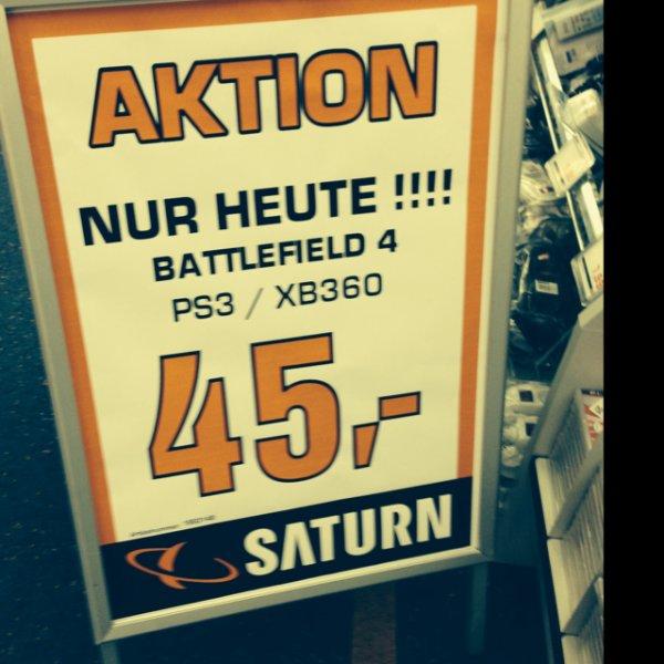 [lokal? Saturn Frankfurt Zeil] Battlefield 4 PS3/XBOX 360 - 45€