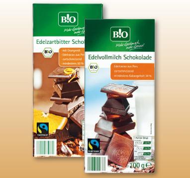 Bio Fairtrade Schokolade bei Penny für nur 0,49 € je 100 g (2 versch. Sorten) - evtl. regional?