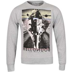 Cinch Men's Reckless Photo Print Crew Neck Sweatshirt - Grey Marl für 12€ @Zavvi