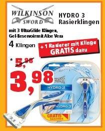 [Thomas Phillips] - Wilkinson Hydro 3 - Rasierer + 5 Klingen = 3,98 €