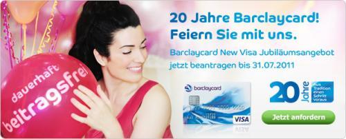 Barclaycard New Visa Gebührenfrei + 35 Euro Cashback