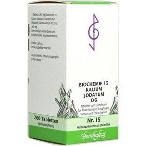 """1, 10 oder mehr Packungen """"BIOCHEMIE 15 Kalium jodatum D 6 Tabletten"""" für 1,04 €"""