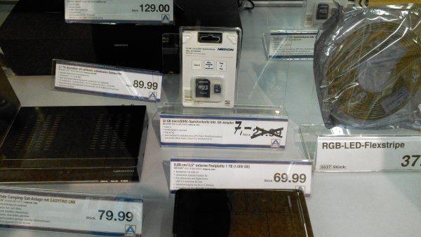 Lokal 18461 Richtenberg Aldi Nord 32 GB microSDHC-Speicherkarte inkl. SD-Adapter Class 6 Medion P89158 (MD 86983)