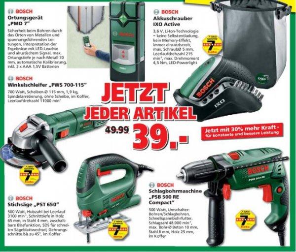 Diverse Bosch Geräte für 34,32€. Durch Best-Preis-Garantie in jeder Bauhaus Filiale.