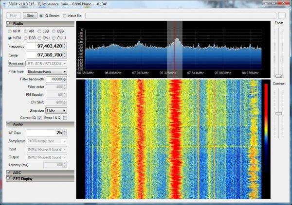 Mit DVB-T-Stick (RTL2832U-Chip+820T-Tuner) - alle Funkfrequenzen von 24MHz bis 1.8GHz empfangen ab 8,34€