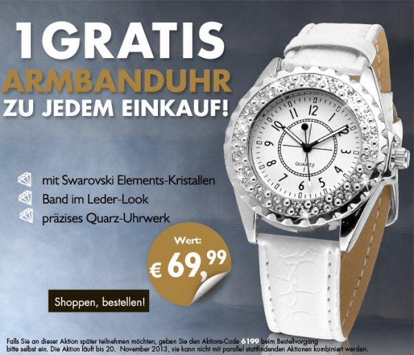 Gratis Nutt€n-Armbanduhr bei Beate Uhse