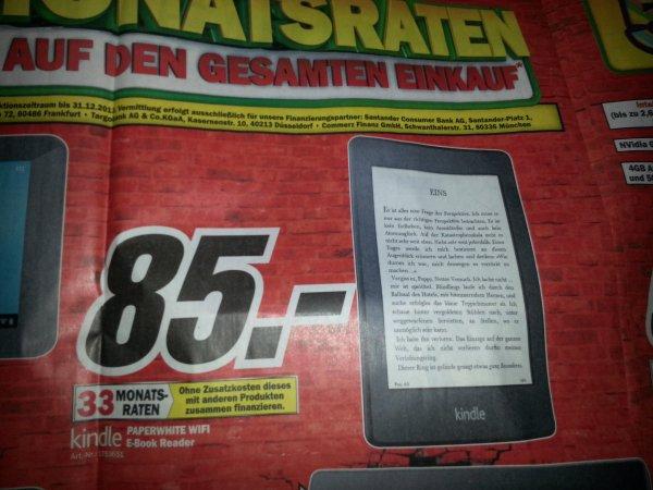 Kindle PAPERWHITE Wifi für 85 Euro [lokal Media Markt Neuss]