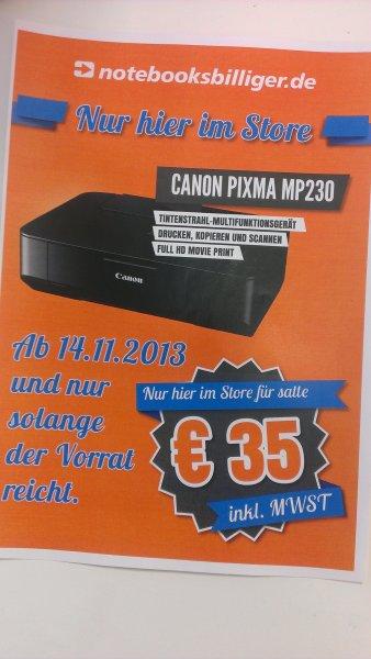 [Lokal Notebooksbilliger Store München] Canon Pixma MP230 für 35 €uro