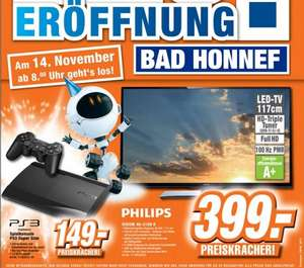 [Expert Bad Honnef] Lokal Neueröffnung Philips 46PFL3108K 399€