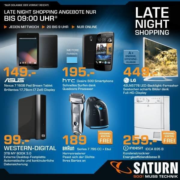 [Saturn Late Night Shopping] LG 42LN5778 449€ idealo = 485€