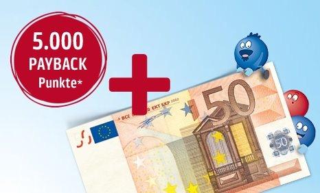 Payback-Deal: 5000 Punkte(50€) für Kontoeröffnung bei der HypoVereinsbank plus 50€ Startguthaben bei Gehaltseingang(siehe Deal)