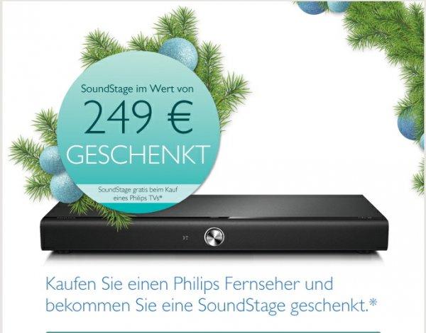 Philips TV kaufen und SoundStage/Soundbar im Wert von 249€ geschenkt bis 19.01.14