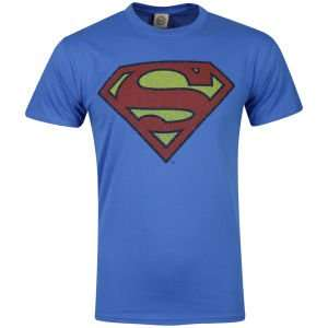 DC Comics Men's Superman Shield T-Shirt - Blue XXL für 7,13€ @Zavvi