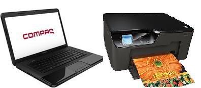 CQ58-d50SG Notebook + Deskjet 3520 e-All-in-One-Drucker für 348,99