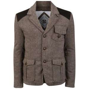 Bellfield Men's Hugo Tweed Wool Hunting Jacket - Oatmeal