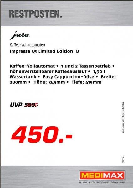 Jura Impressa C5 bei Medimax Hannover Vahrenwald - 450€