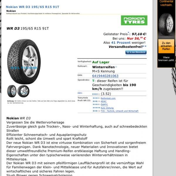 Nokian WR D 3 Winterreifen