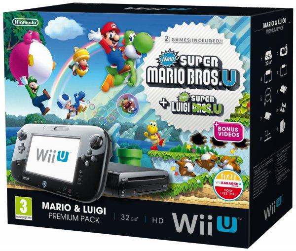 Nintendo Wii U Premium Pack inkl. New Super Mario Bros. U und New Super Luigi U für zusammen 267,75 €