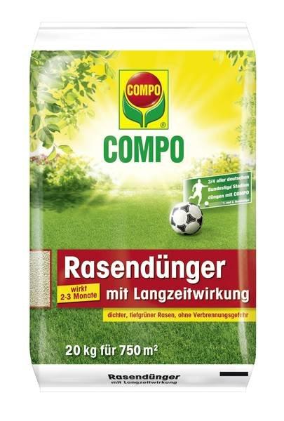 Compo Rasendünger mit Langzeitwirkung, 20kg Sack für kleine 30,14€ + Geschenk + Qipu.