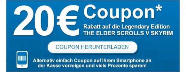 20€ Gutschein auf Skyrim Legendary Edition (Xbox360 & PS3) am 15.11. @ Müller