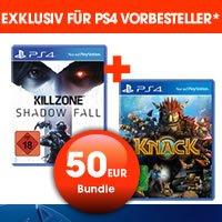 [Gamestop offline] [PS4] Killzone: Shadowfall + Knack  [exklusiv für Vorbesteller] für 50 Euro