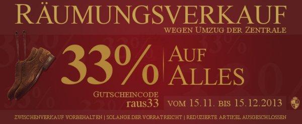 33 % bei Langer & Messmer - Loake, Barker, van Bommel, Schuhspanner...