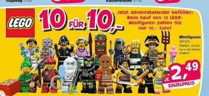 [Toysrus lokal in allen Märkten] LEGO Minifiguren und Playmobil 10 für 10,- Euro [statt 24,90 bzw. 19,90 Euro]