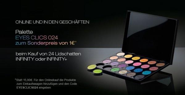 Kiko Palette Eyes Clics 24 für 1 Euro statt 15,90 Euro