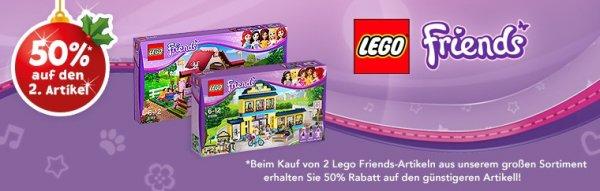 Lego Friends 50% Rabatt auf den 2. Artikel bei Toys R´ us