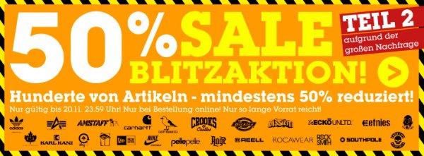 [MZEE] > - 50% Sale Blitzaktion bei MZEE.com