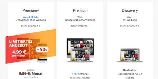 Deezer Premium+ für 4,99€ statt 9,99€ monatlich (6 Monate lang)