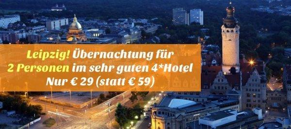 Leipzig: Eine Übernachtung für 2 Personen im sehr guten 4*Hotel nur 29,- €