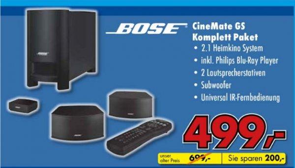 [Mediadeal Lübbecke]  BOSE Cinemate GS 2.1 schwarz Lautsprecher-Set für 499€
