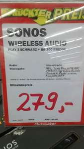 [LOKAL] Mediamarkt Mülheim SONOS play:3 +  Bridge etc.
