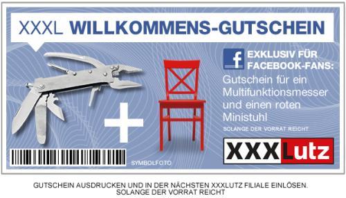 Multifunktionsmesser + Ministuhl bei XXXLutz