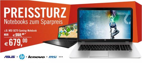 6x Notebook Deals bei Cyberport 70 EUR und mehr sparen