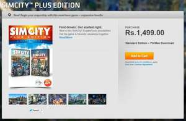 [Origin] SimCity Plus Edition (1499 INR) 17,68€ /SimCity Digital Deluxe Edition  1399 INR 16,50€ /SimCity Standard Edition 749.50 INR 8,84€