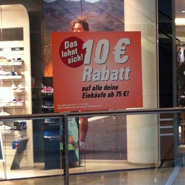 10€ Rabatt bei Intersport ab 75€ Einkaufwert.