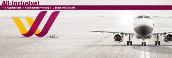 LIDL: Germanwings Flüge inkl. Gepäckstück, Sitzplatzreservierung, Snack und Getränk ab 39,99€