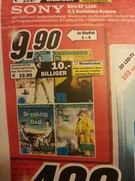 Breaking Bad je Staffel 9,90EUR (lokal Rostock) Mediamarkt