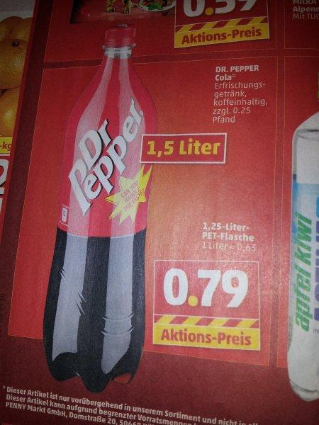 {Offline} Penny (leider nicht ganz Bundesweit) Dr. Pepper 1,5 Liter 0,79