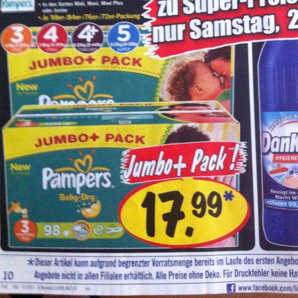 (Lokal Dresden?) Pampers Jumbo+ Pack Lidl Super-Samstag 23.11.13