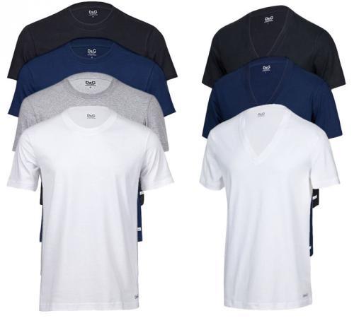 ebay: Dolce & Gabbana 3er Pack T-Shirt Rundhals o. V-Neck für 29,90
