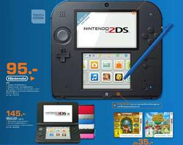 [ Saturn Leverkusen]    Nintendo 2DS 95€   /   Nintendo 3DS XL 145€