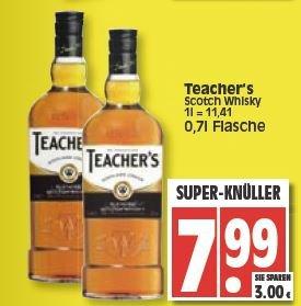[Lokal Berlin] Teacher's Scotch Whisky für 7,99€ bei Edeka/Reichelt